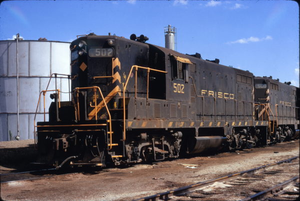 GP7s 502 and 509 Tulsa, Oklahoma on July 16, 1972 (James Claflin)