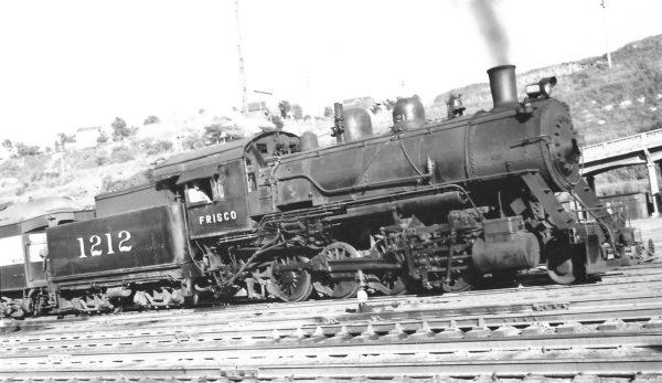 2-8-0 1212 at Kansas City, Missouri on March 21, 1948 (Arthur B. Johnson)