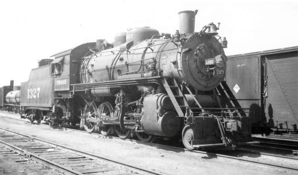 2-8-0 1327 at Springfield, Missouri on September 25, 1948 (Arthur B. Johnson)