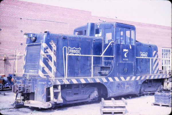 44-Ton GE Switcher 7 at Kansas City, Missouri on June 3, 1969 (J.B. Gwinn)