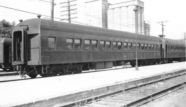 62 Seat Chair Car 753 at Springfield, Missouri on June 11, 1960 (Arthur B. Johnson)