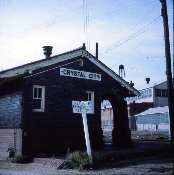 Crystal City, Missouri Depot in 1971 (Ken McElreath)