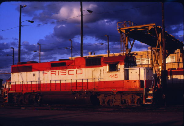 GP38-2 445 at Tulsa, Oklahoma on May 16, 1980 (Bob Graham)