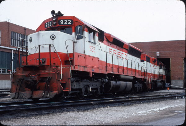 SD45 922 at Springfield, Missouri in January 1980