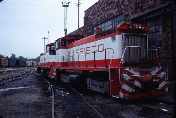 SW1500s 332 and 331 at St. Louis., Missouri in October 1977 (Don Reck)