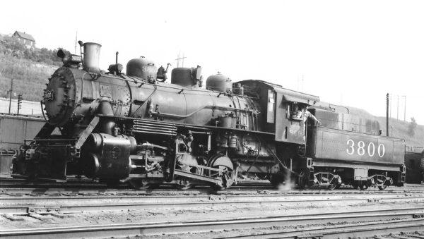 0-6-0 3800 at Kansas City, Missouri on September 9, 1950 (Arthur B. Johnson)