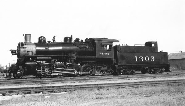 2-8-0 1303 at Enid, Oklahoma on February 1, 1946 (Arthur B. Johnson)