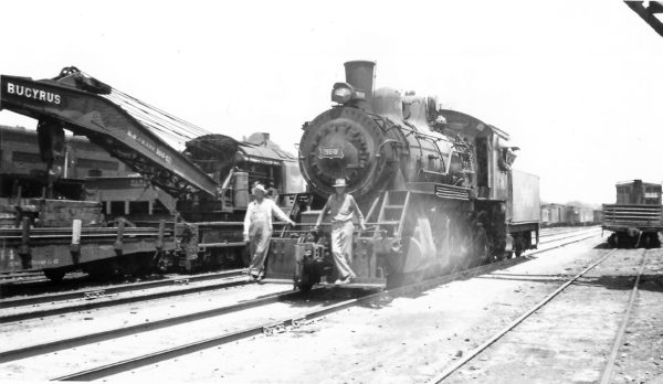 2-8-0 960 switching at Springfield, Missouri on July 1, 1947