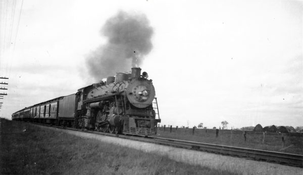4-6-4 1064 with Train #6 four miles east of Springfield, Missouri on September 10, 1949 (Arthur B. Johnson)