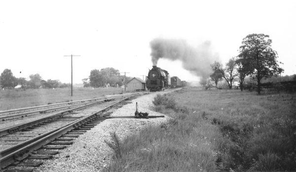 4-8-2 4421 near Baxter Springs, Kansas on May 16, 1948 (Arthur B. Johnson)