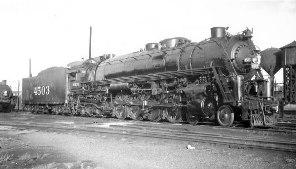 4-8-4 4503 at Springfield, Missouri on April 30, 1948 (Arthur B. Johnson)