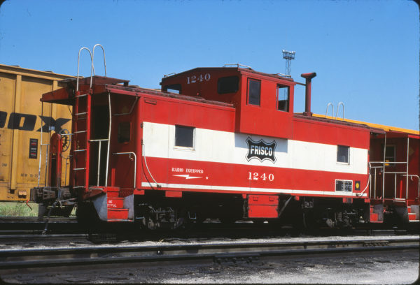 Caboose 1240 at Tulsa, Oklahoma in August 1980 (Don Heiberger)