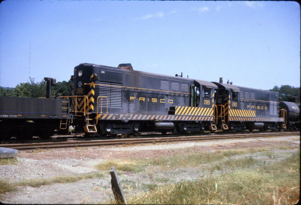 H-12-44s 285 and 282 at West Tulsa, Oklahoma on July 9, 1963 (D.E. Christensen)