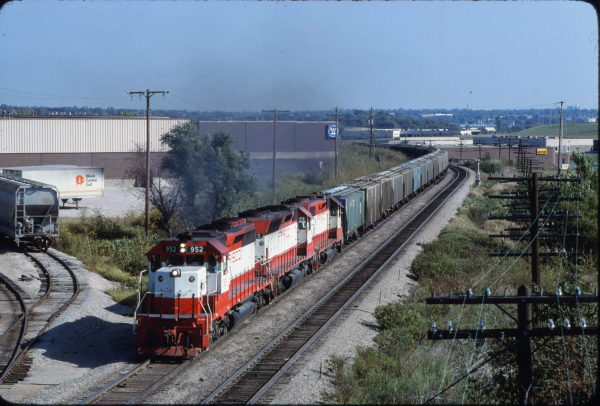 SD40-2 952 at Lenexa, Kansas on September 21, 1980 (James Primm)
