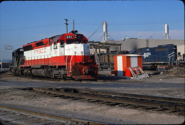 SD45 901 Union Pacific's Armstrong yard in May 1980