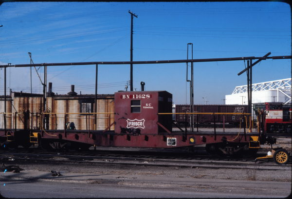 Transfer Caboose 11628 (Frisco 1341) at Kansas City, Missouri in February 1981
