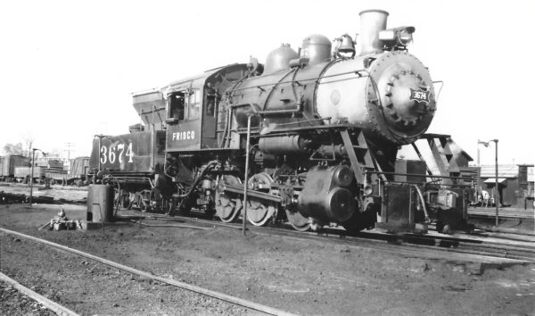 0-6-0 3674 at Fort Smith, Arkansas on November 3, 1948 (Arthur B. Johnson)