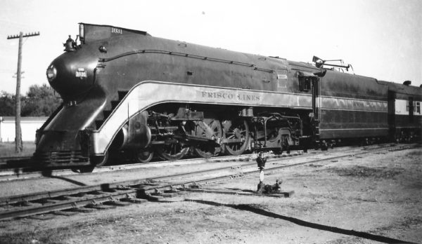 4-6-2 1031 with the Firefly at Vinita, Oklahoma on October 19, 1947 (Arthur B. Johnson)