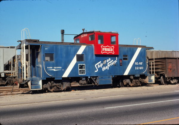 Caboose 1240 at Mobile, Alabama in June 1976