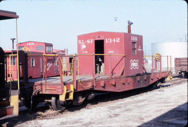 Caboose 1342 at Kansas City, Missouri on January 1, 1980 (George Menge)