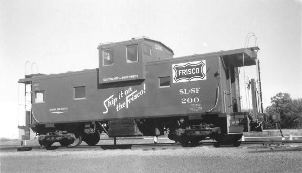 Caboose 200 at Springfield, Missouri on October 2, 1966 (Arthur B. Johnson)