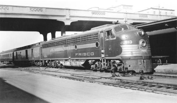 E8A 2013 (Sea Biscuit) on Train #20 at Springfield, Missouri on October 19, 1952 (Arthur B. Johnson)