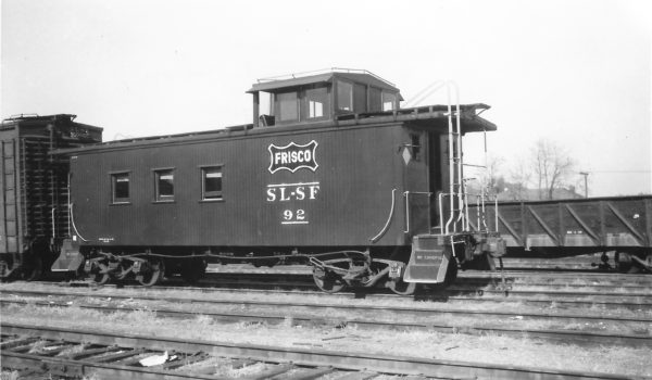 Wooden Caboose 92 at Springfield, Missouri on November 15, 1954 (Arthur B. Johnson)
