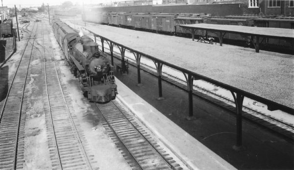 4-8-2 1503 with the Firefly at Union Station, Tulsa, Oklahoma on May 22, 1949 (Arthur B. Johnson)