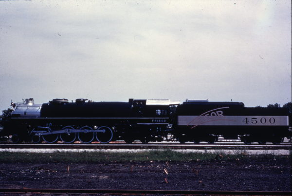 4-8-4 4500 at Springfield West Yard, Summer of 54 (M. Morrow)