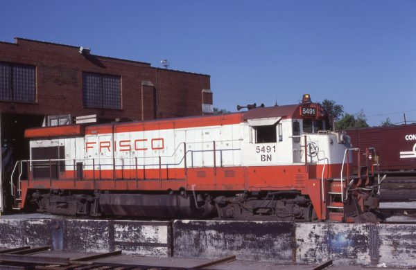 B30-7 5491 (Frisco 869) at St. Louis, Missouri on May 21, 1981 (J.H. Wilson)