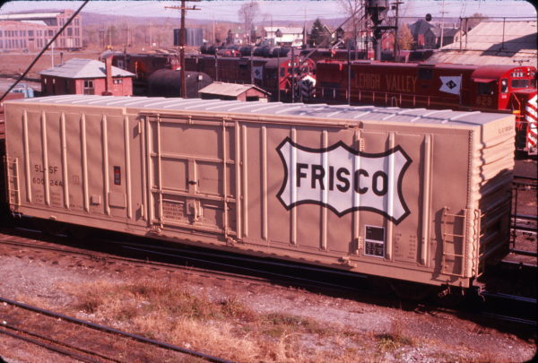 Boxcar 600244 at Sayre, Pennsylvania in October 1974