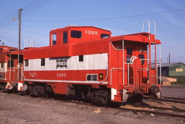 Caboose 1205 at Sherman, Texas on April 27, 1978 (G.J. Sommers)