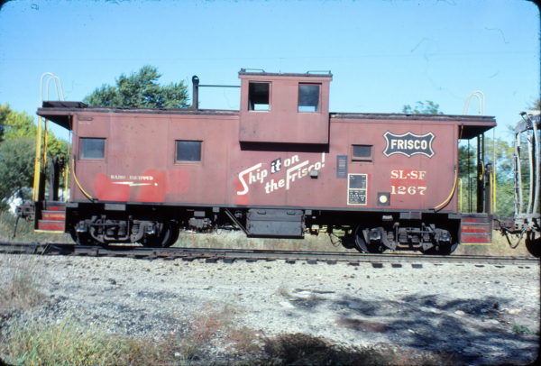 Caboose 1267 at Nichols Junction, Springfield, Missouri on October 8, 1980