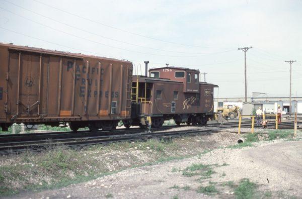 Caboose 1284 at Kansas City, Missouri on May 9, 1977
