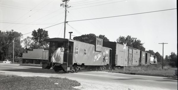 Caboose 1417 at Clinton, Missouri on September 23, 1975