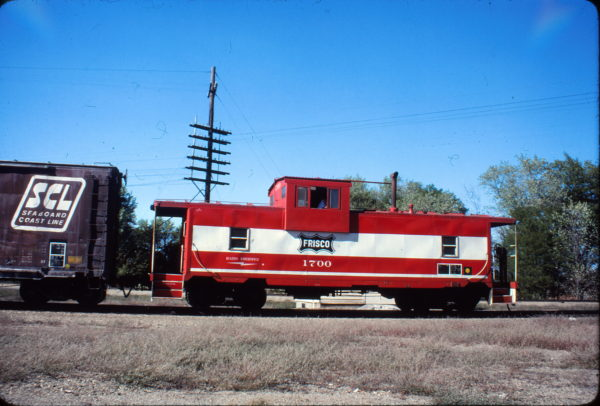 Caboose 1700 at Nichols Junction, Springfield, Missouri on October 8, 1980