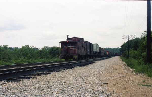 Caboose 1714 at Thayer, Missouri on June 30, 1979 (R.R. Taylor)
