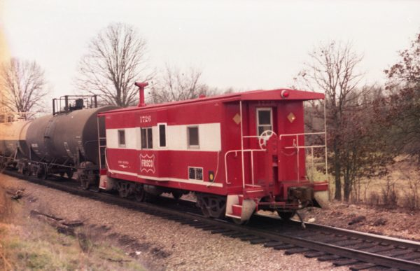 Caboose 1726 at Thayer, Missouri on December 31, 1979 (R.R. Taylor)