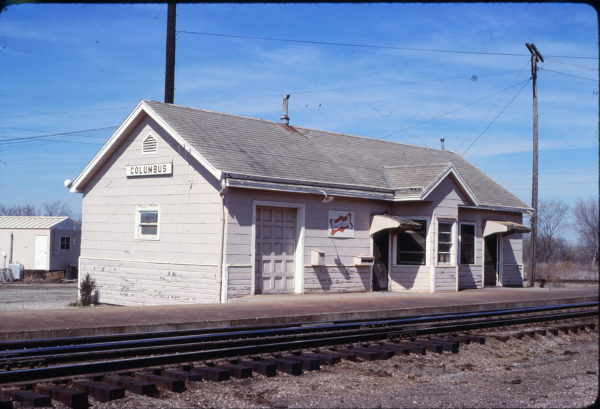 Columbus, Kansas Depot on March 18, 1981 (Jim Shepard)