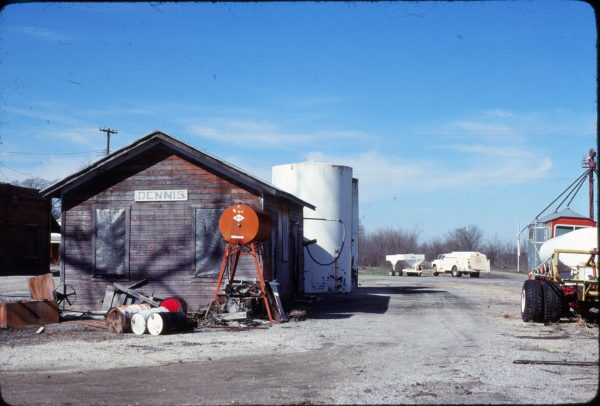 Dennis, Kansas Depot on March 18, 1981 (Jim Shepard)