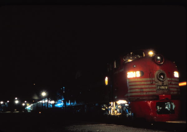 E8A 2015 (Twenty Grand) with Train #9 at Monett, Missouri on May 29, 1965 (Mike Condren)