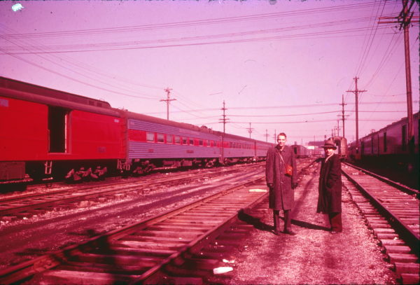 Frisco Passenger Train at St. Louis coach yard(date unknown)
