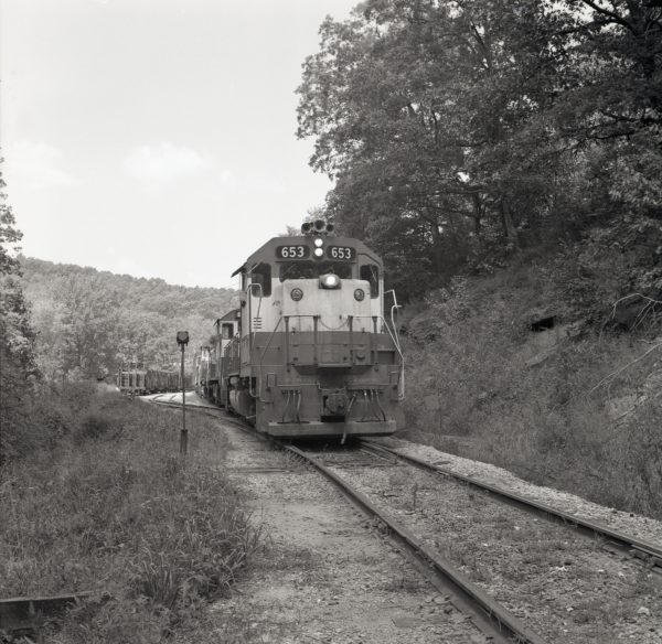 GP38AC 653 at Winslow, Arkansas (date unknown)