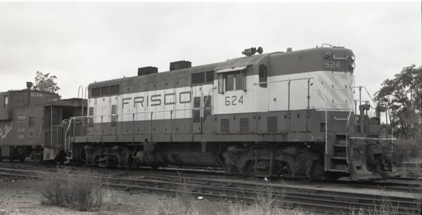 GP7 624 and Caboose 1218 at North Clinton, Missouri (date unknown)