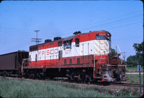 GP7 627 (location unknown) in June 1976 (Mac Owen)