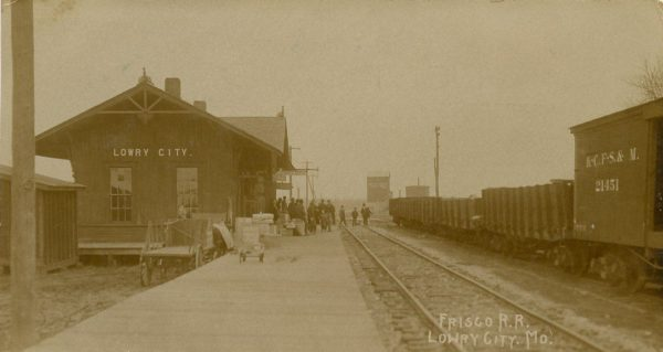 Lowry City, Missouri Depot (date unknown)