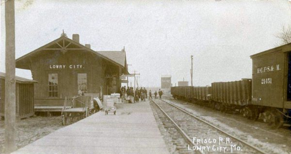 Lowry City, Missouri Depot (date unknown) (Corrected)