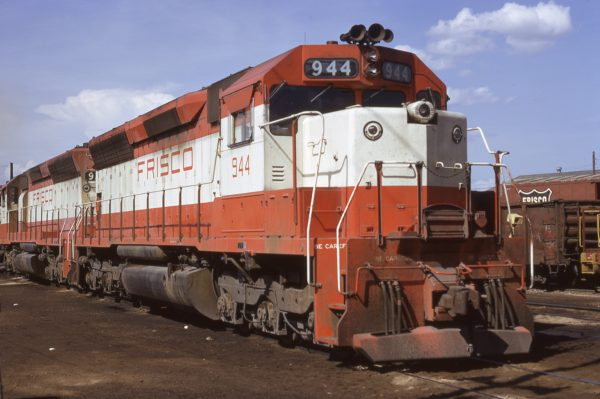 SD45 944 at Tulsa, Oklahoma on July 16, 1972 (James Claflin)