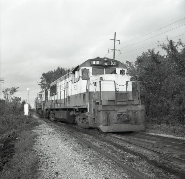 U25B 831 at Fort Smith, Arkansas (date unknown)