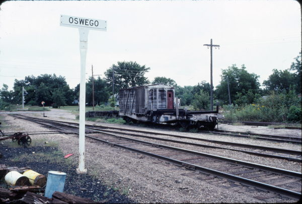 Work Car 104418 at Oswego, Kansas on September 16, 1982 (Len Kratz)